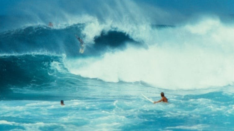 A surf scene from the film